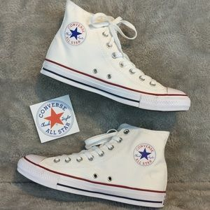 NWOB White High Top Converse